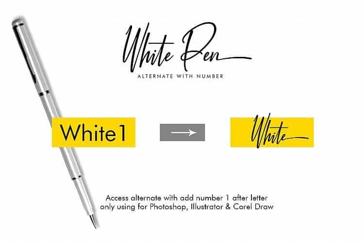White Pen шрифт скачать бесплатно