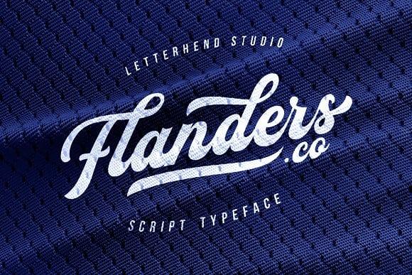 Flanders шрифт скачать бесплатно