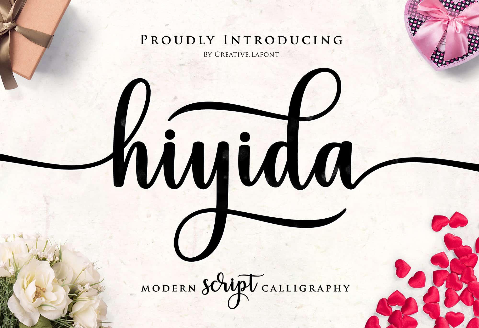 Hiyida шрифт скачать бесплатно