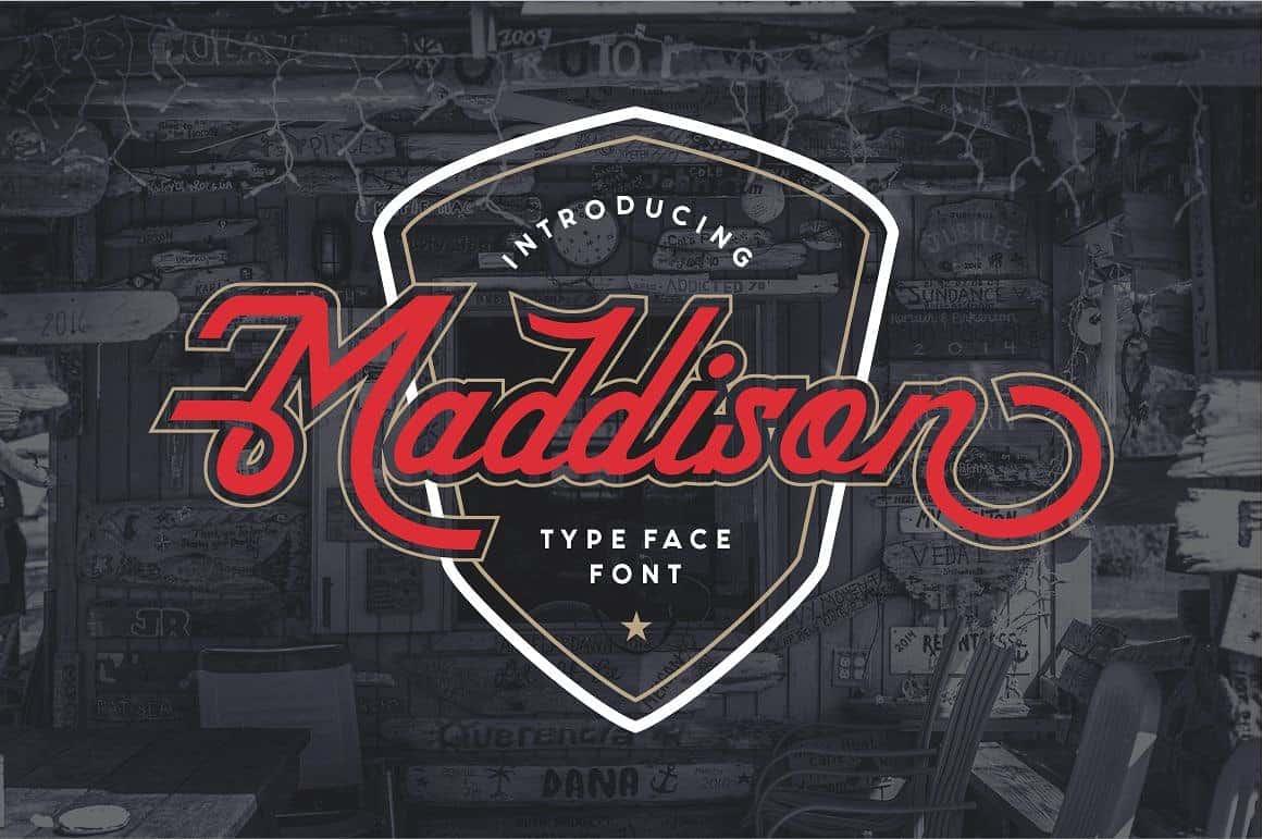 Maddison шрифт скачать бесплатно