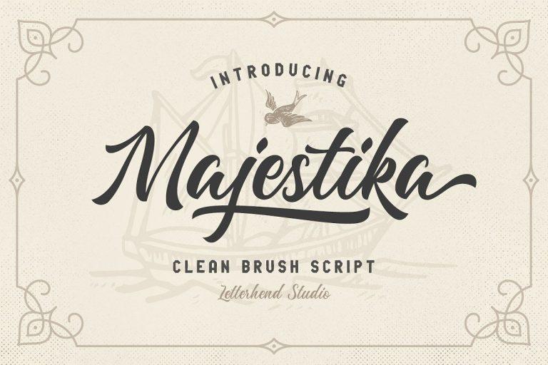 Majestika шрифт скачать бесплатно