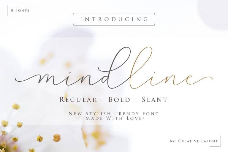 Mindline шрифт скачать бесплатно