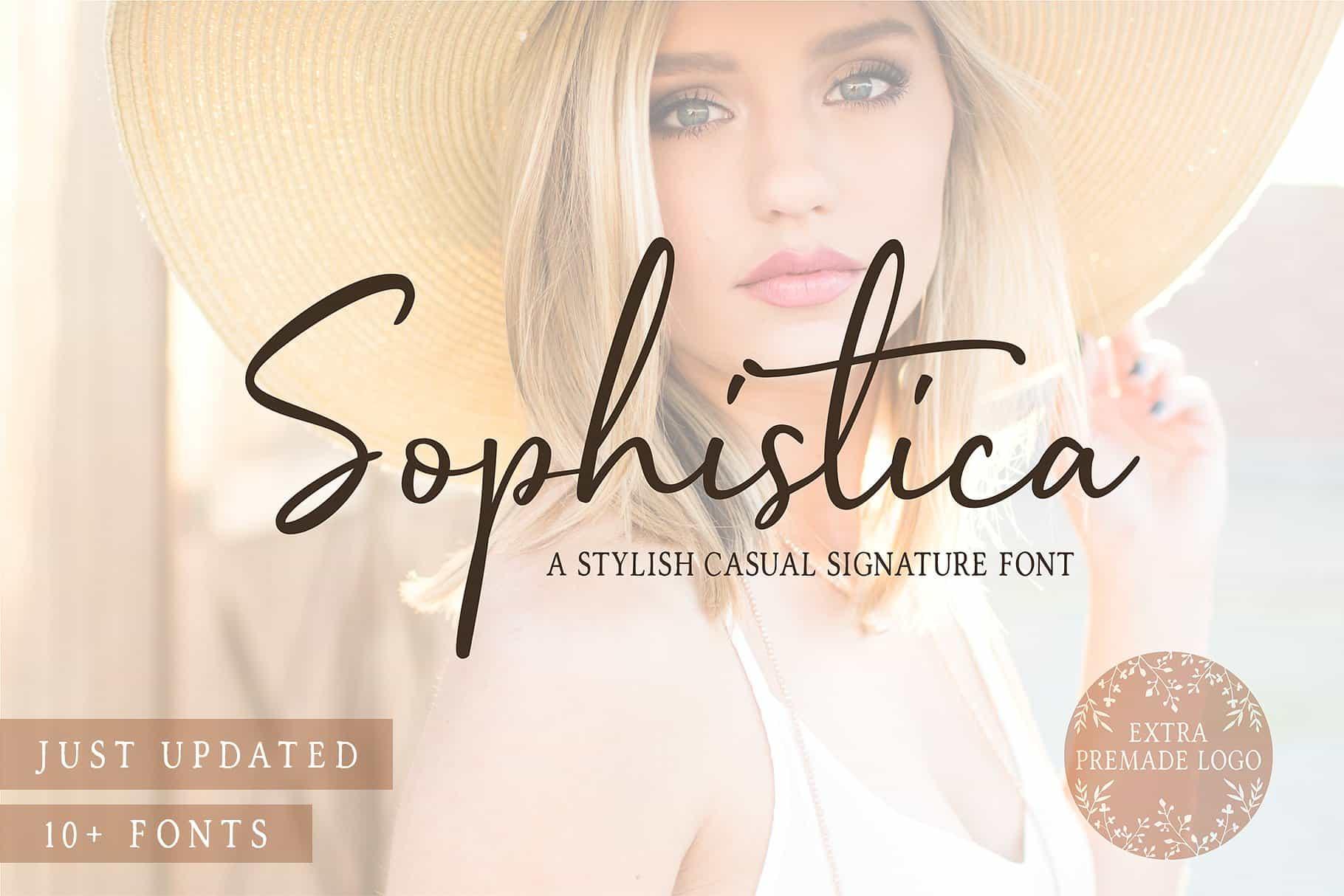 Sophistica шрифт скачать бесплатно