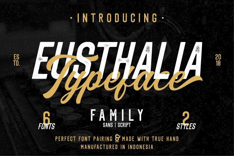 Eusthlia шрифт скачать бесплатно