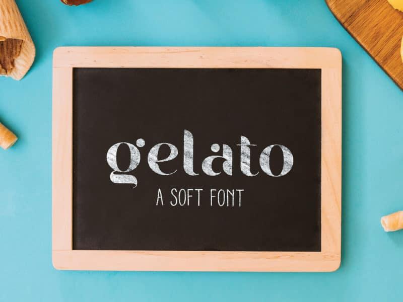 Gelato шрифт скачать бесплатно