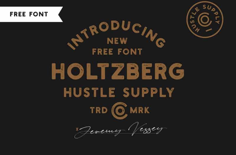 Holtzberg шрифт скачать бесплатно
