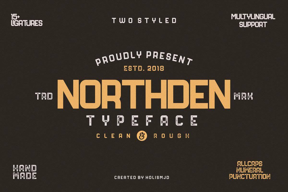 Northden шрифт скачать бесплатно