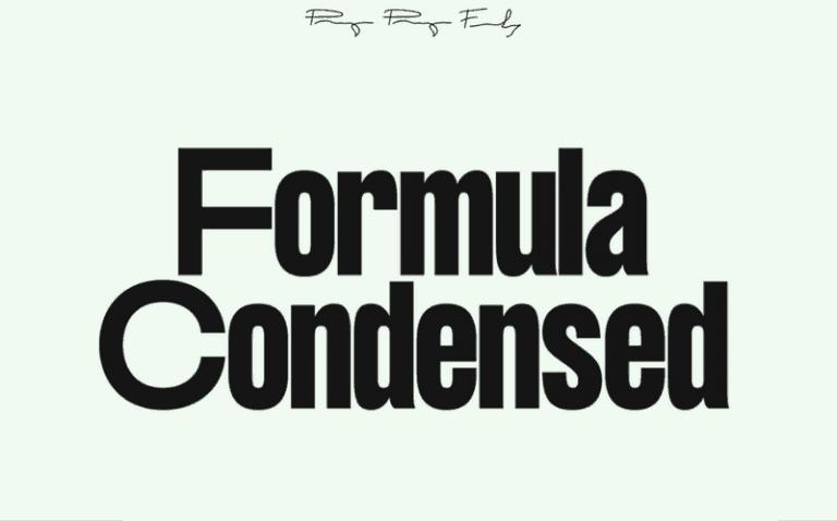 Formula Consensed шрифт скачать бесплатно