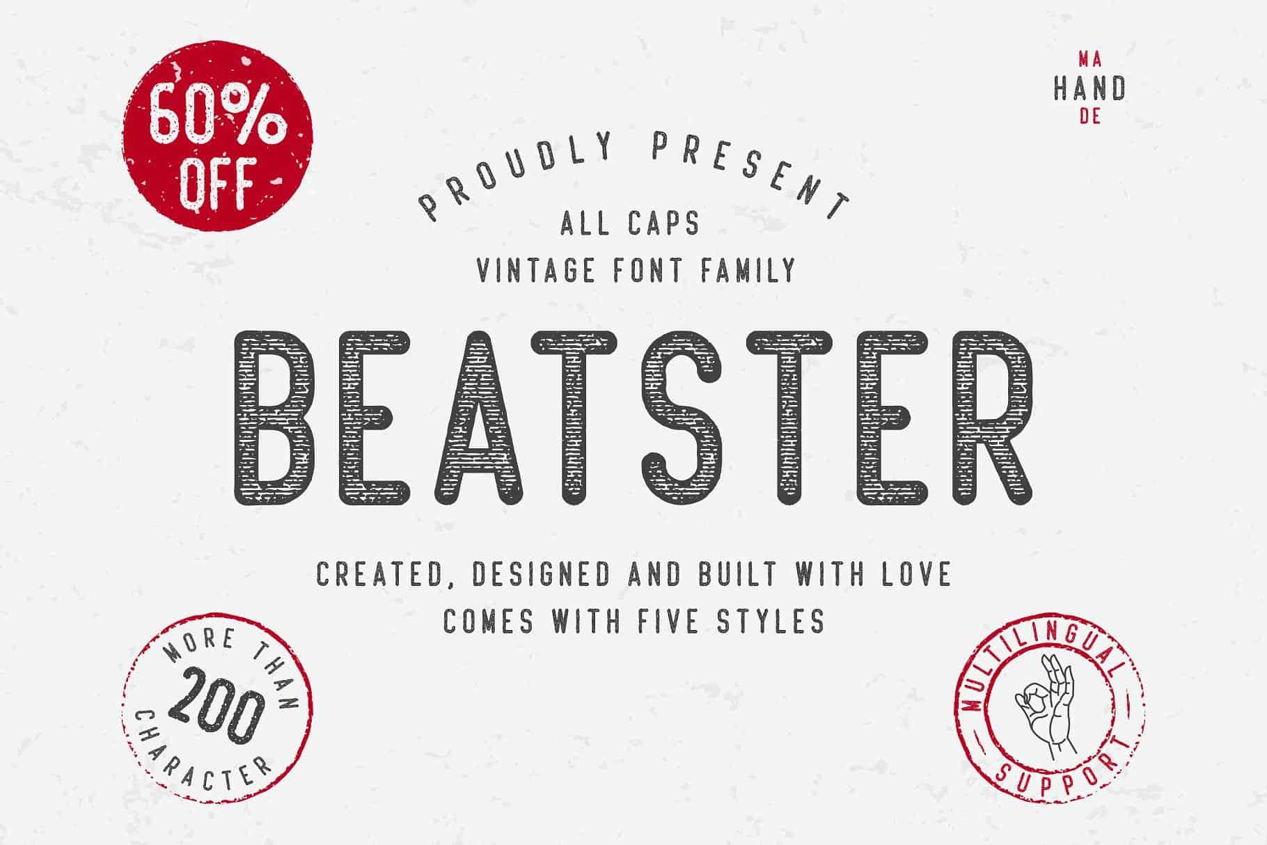 Beatster шрифт скачать бесплатно