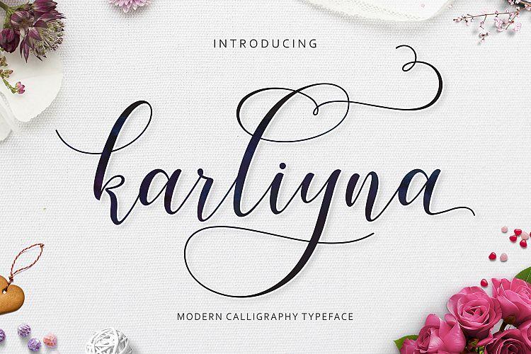 Karliyna шрифт скачать бесплатно