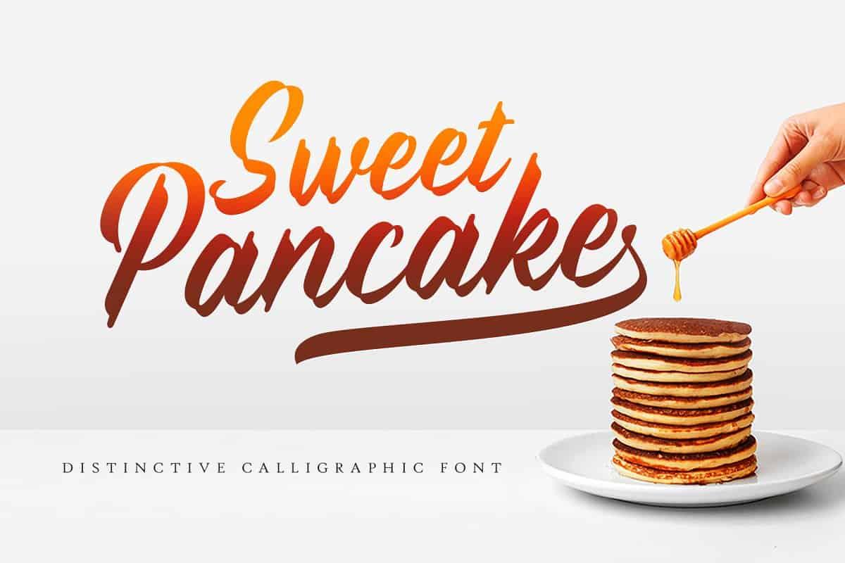 Sweet Pancake шрифт скачать бесплатно