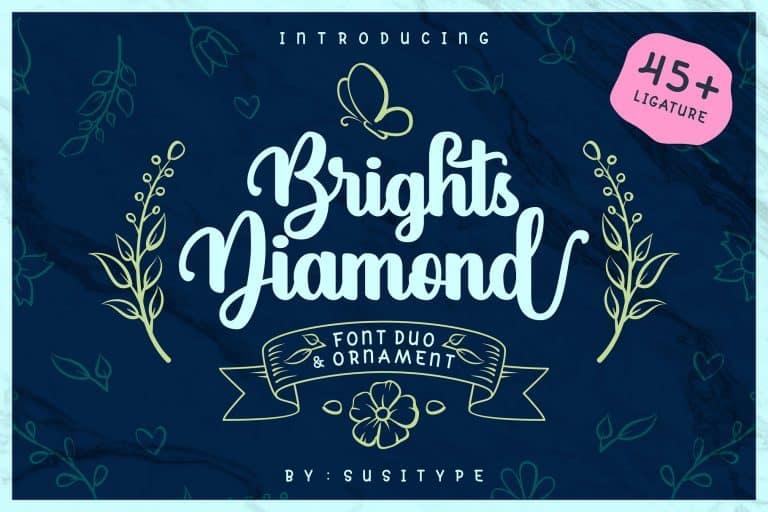 Brights Diamond шрифт скачать бесплатно