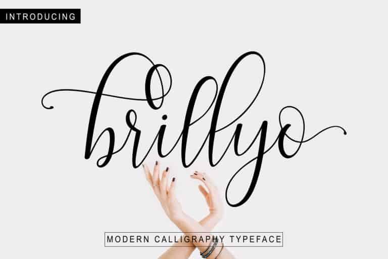 Brillyo шрифт скачать бесплатно