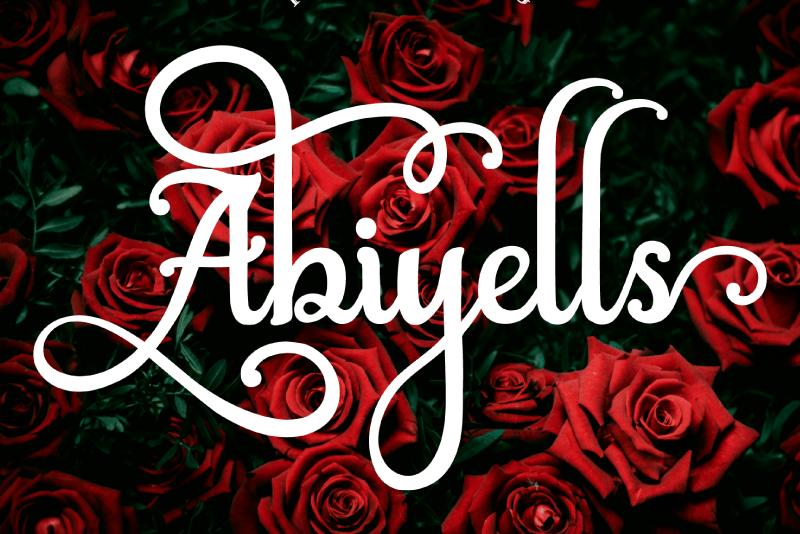 Abiyells шрифт скачать бесплатно