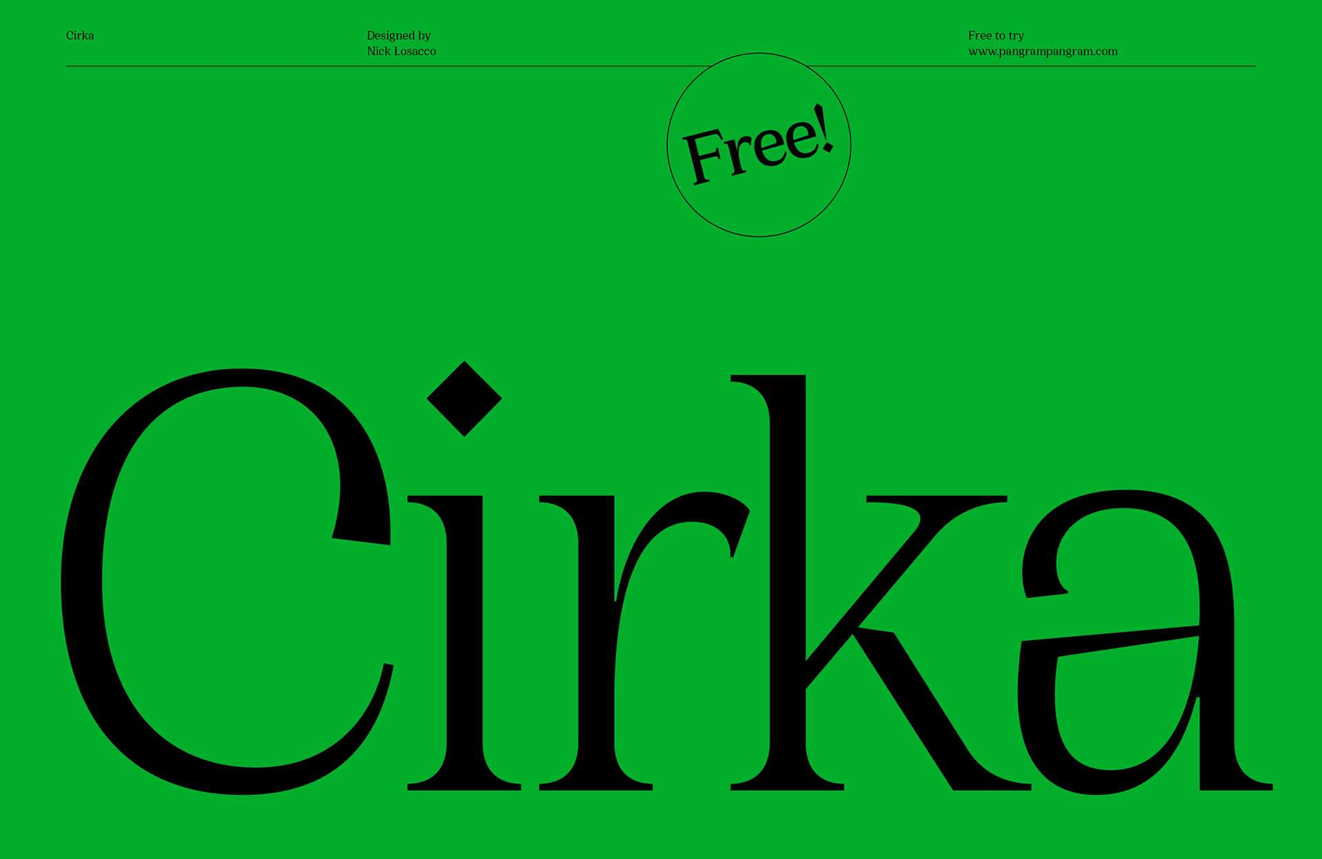 Cirka шрифт скачать бесплатно