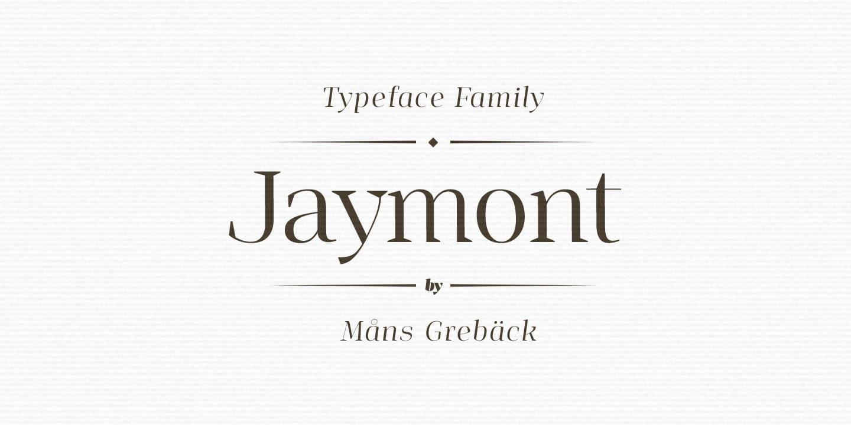 Jaymont шрифт скачать бесплатно