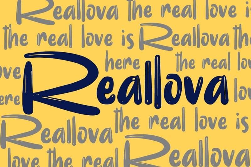 Reallova шрифт скачать бесплатно