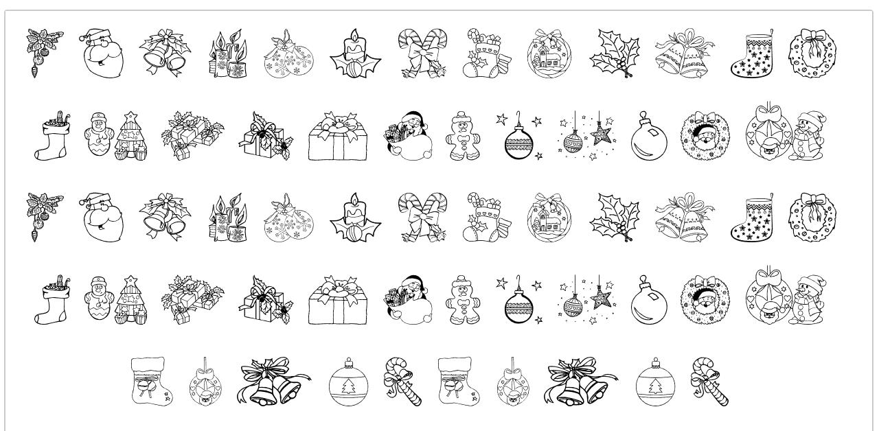 Christmas Ornaments шрифт скачать бесплатно