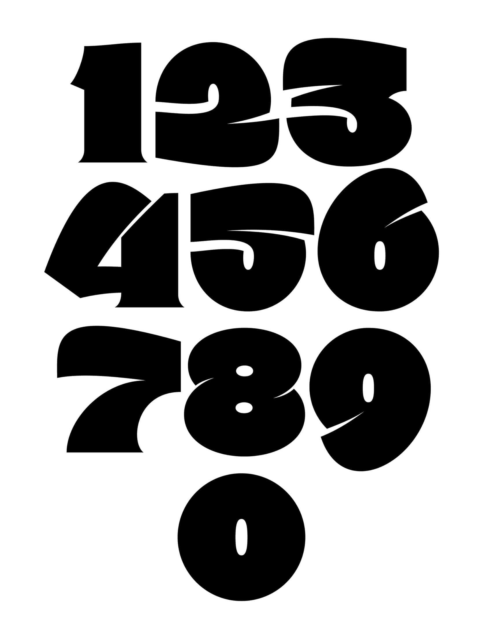 AHB Numeros шрифт скачать бесплатно