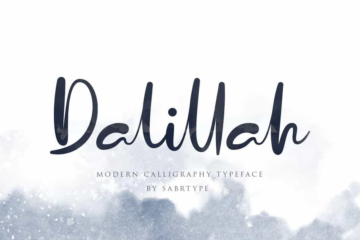 Dalillah шрифт скачать бесплатно