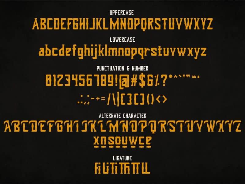 Dohong Kaliba шрифт скачать бесплатно