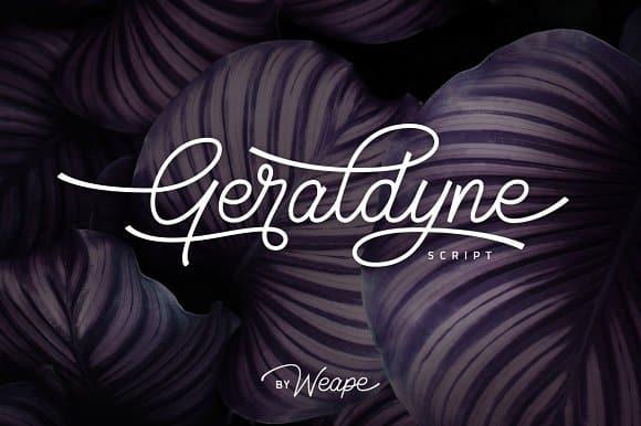 Geraldyne шрифт скачать бесплатно