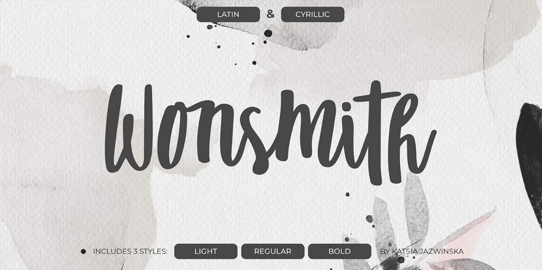 Wonsmith шрифт скачать бесплатно