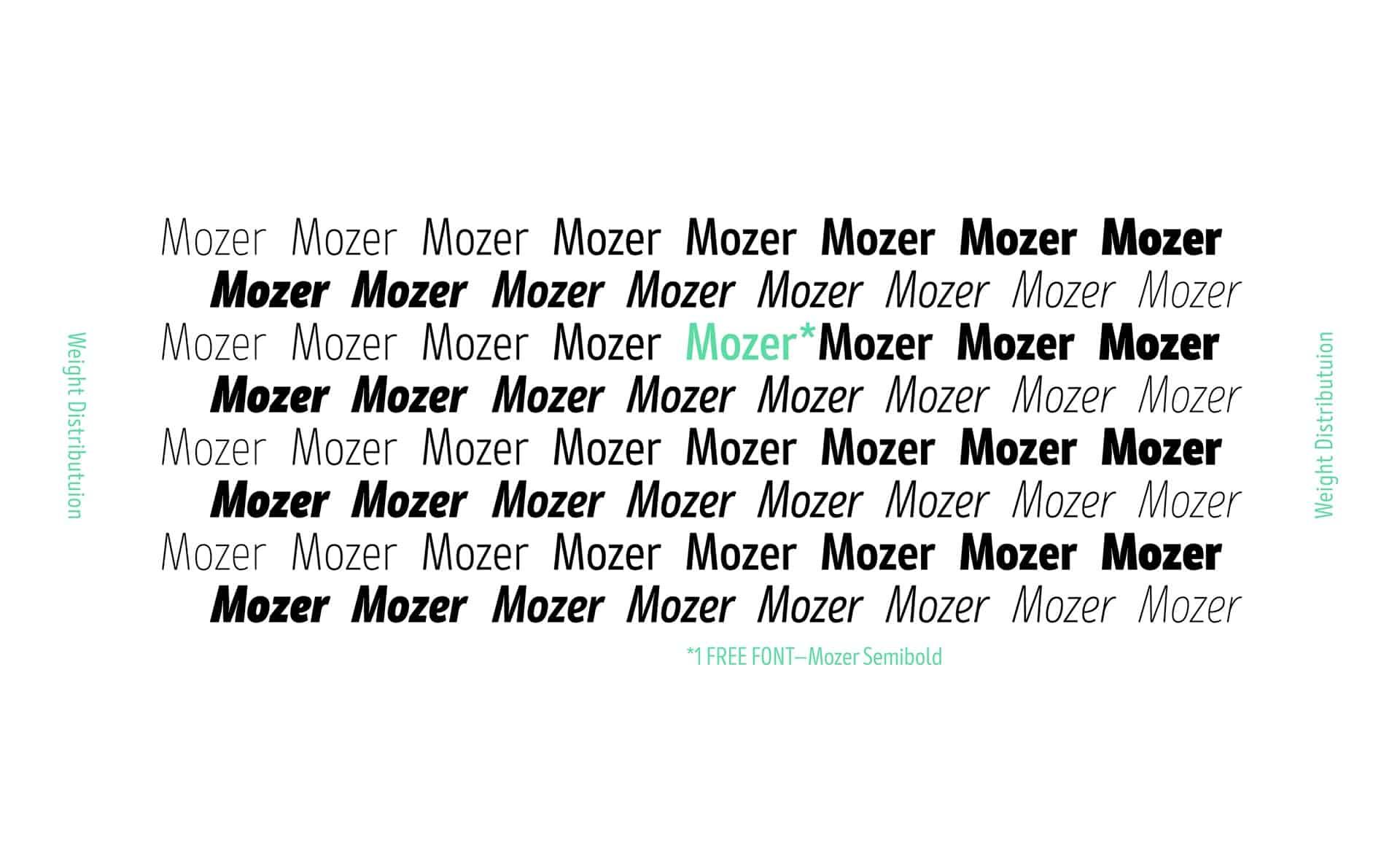 Mozer SemiBold шрифт скачать бесплатно