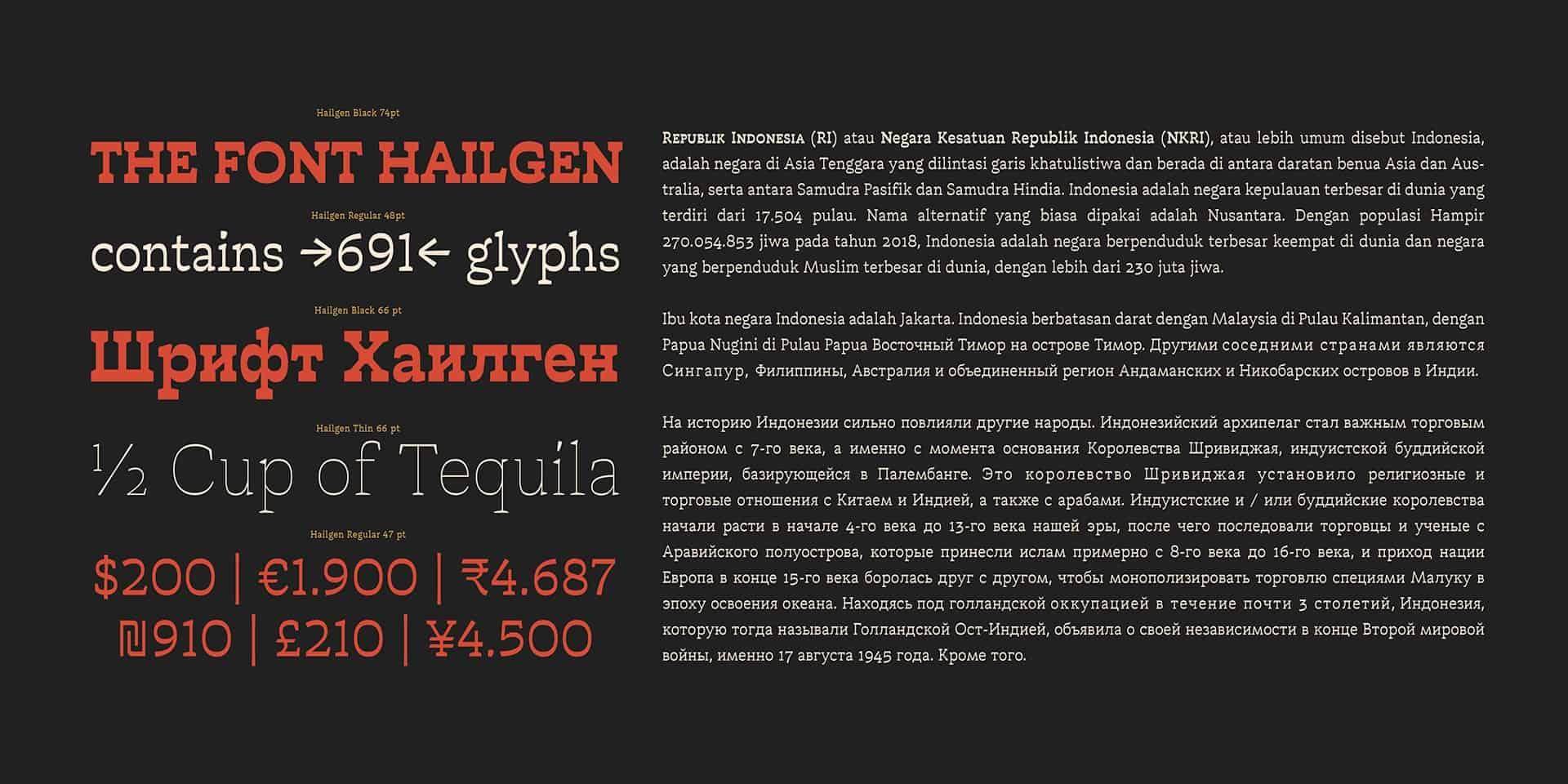 Hailgen Thin шрифт скачать бесплатно