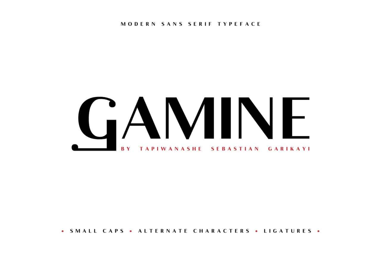 Gamine шрифт скачать бесплатно