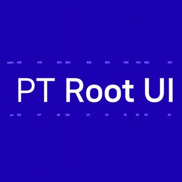 PT Root UI шрифт скачать бесплатно