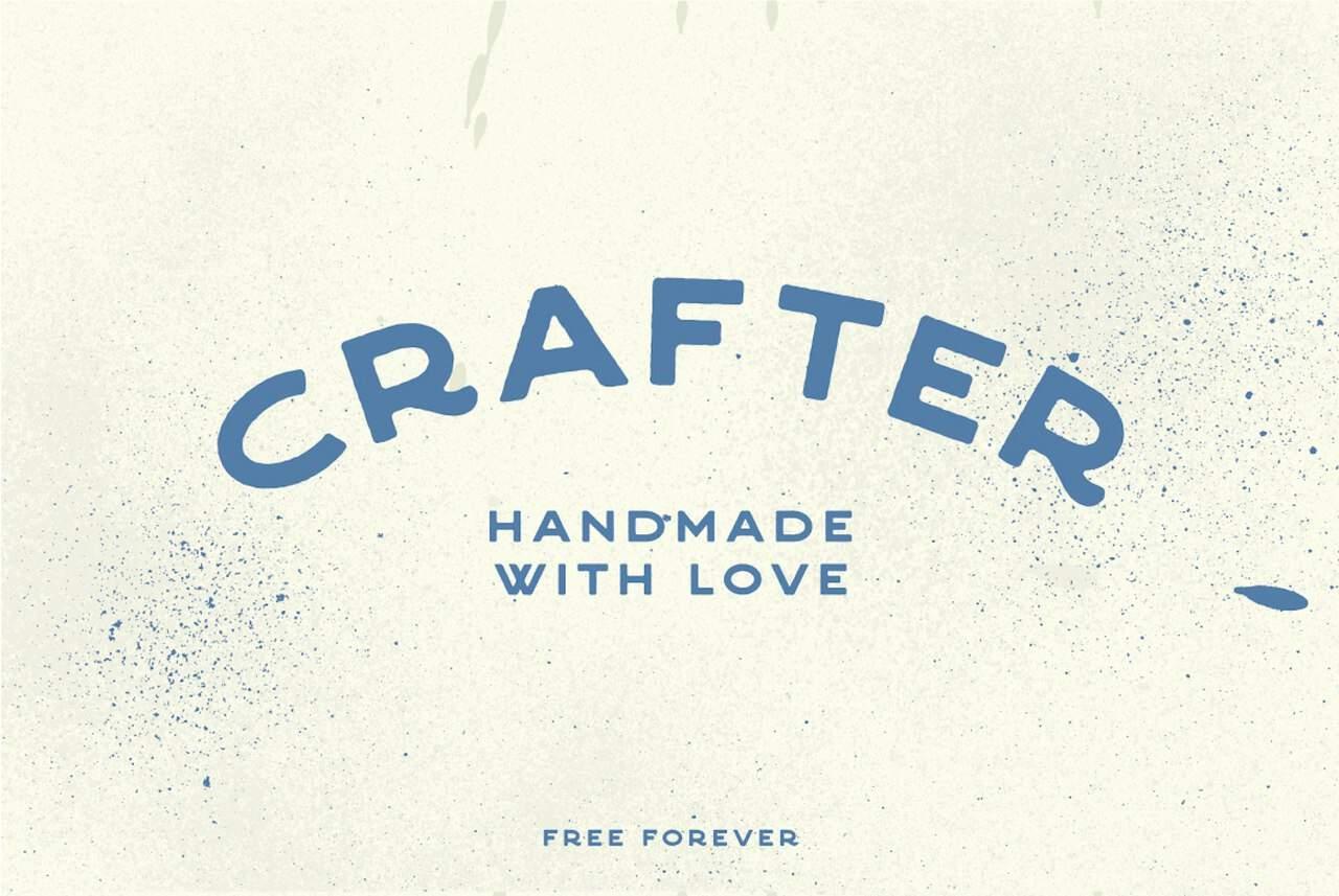 Crafter шрифт скачать бесплатно