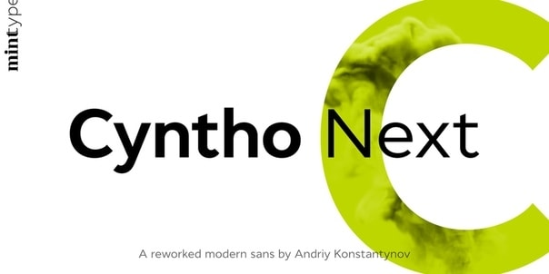 Cyntho Next Slab Light шрифт скачать бесплатно