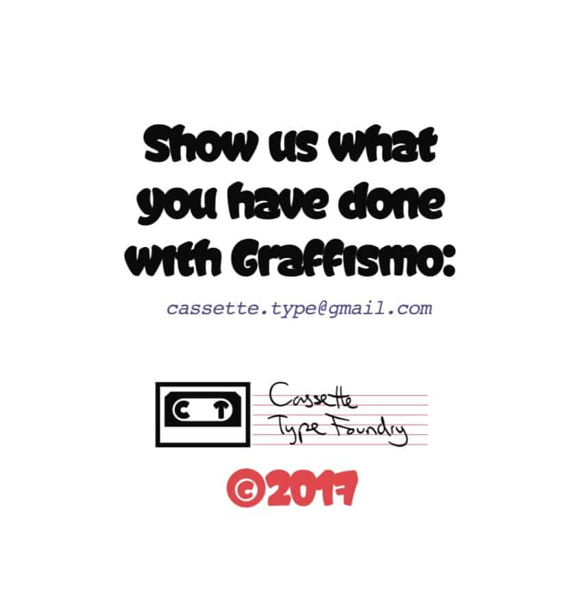 Graffismo шрифт скачать бесплатно