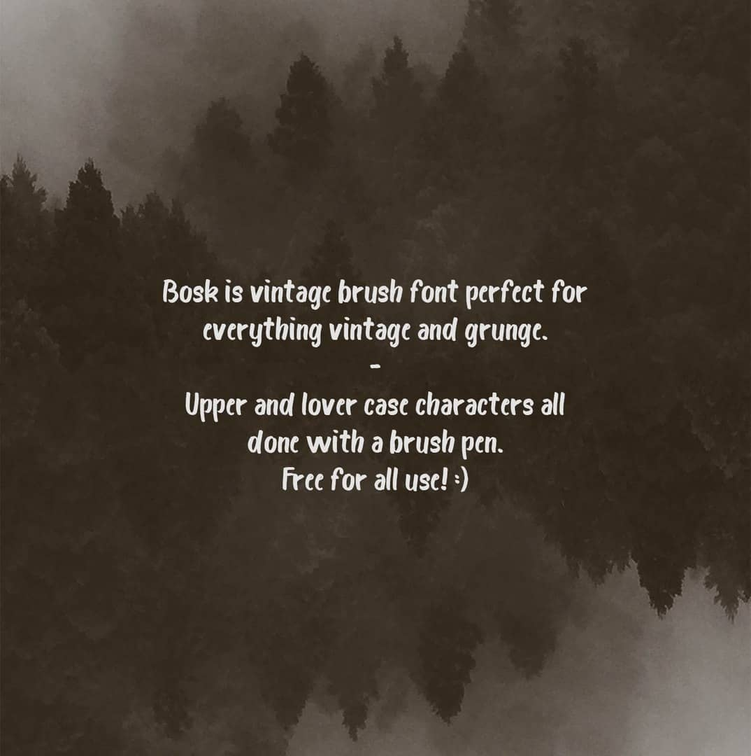 Bosk Brush шрифт скачать бесплатно