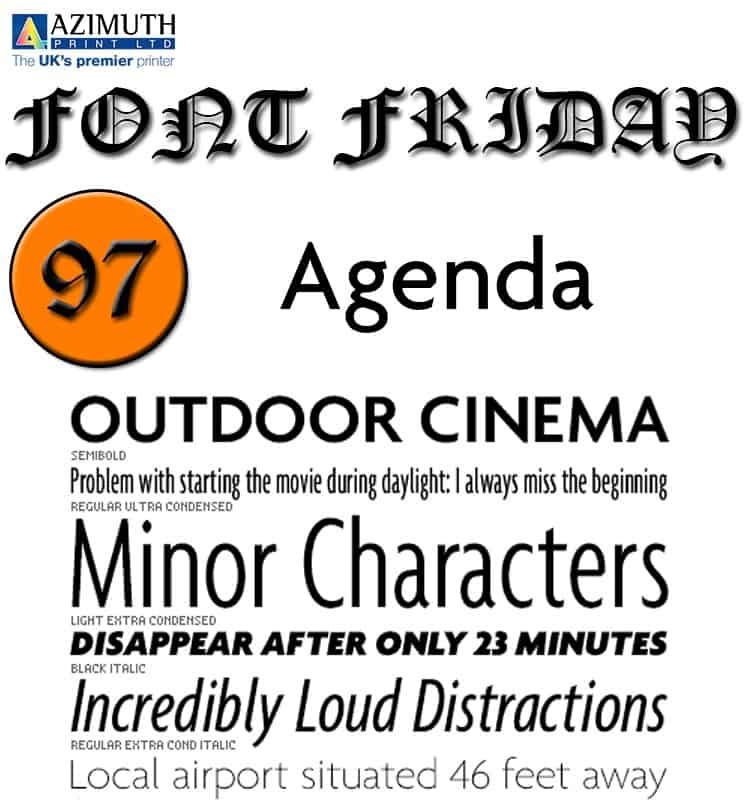 Agenda 1993 Greg Thompson шрифт скачать бесплатно
