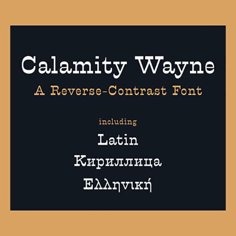 Calamity Wayne шрифт скачать бесплатно