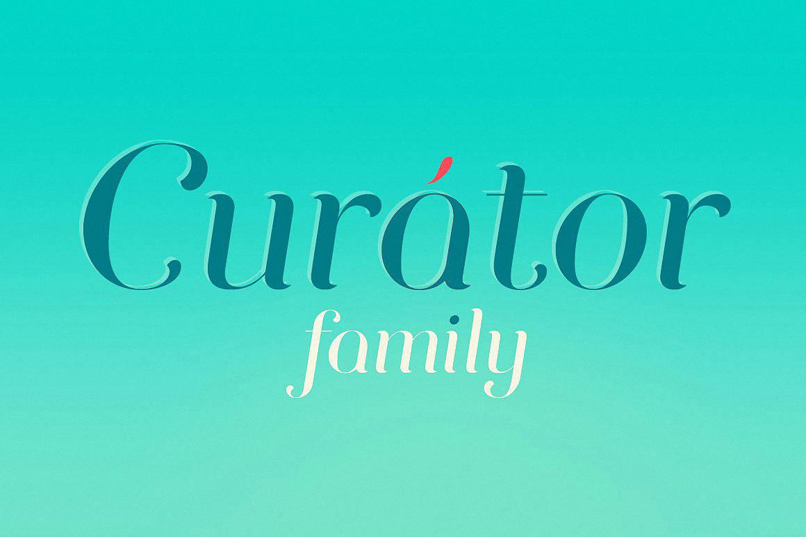 Curator family шрифт скачать бесплатно