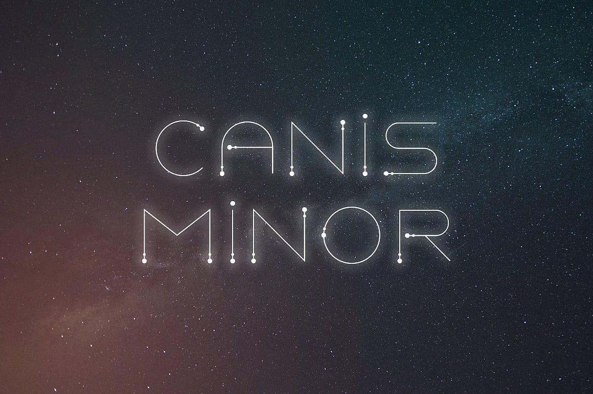 Canis Minor шрифт скачать бесплатно