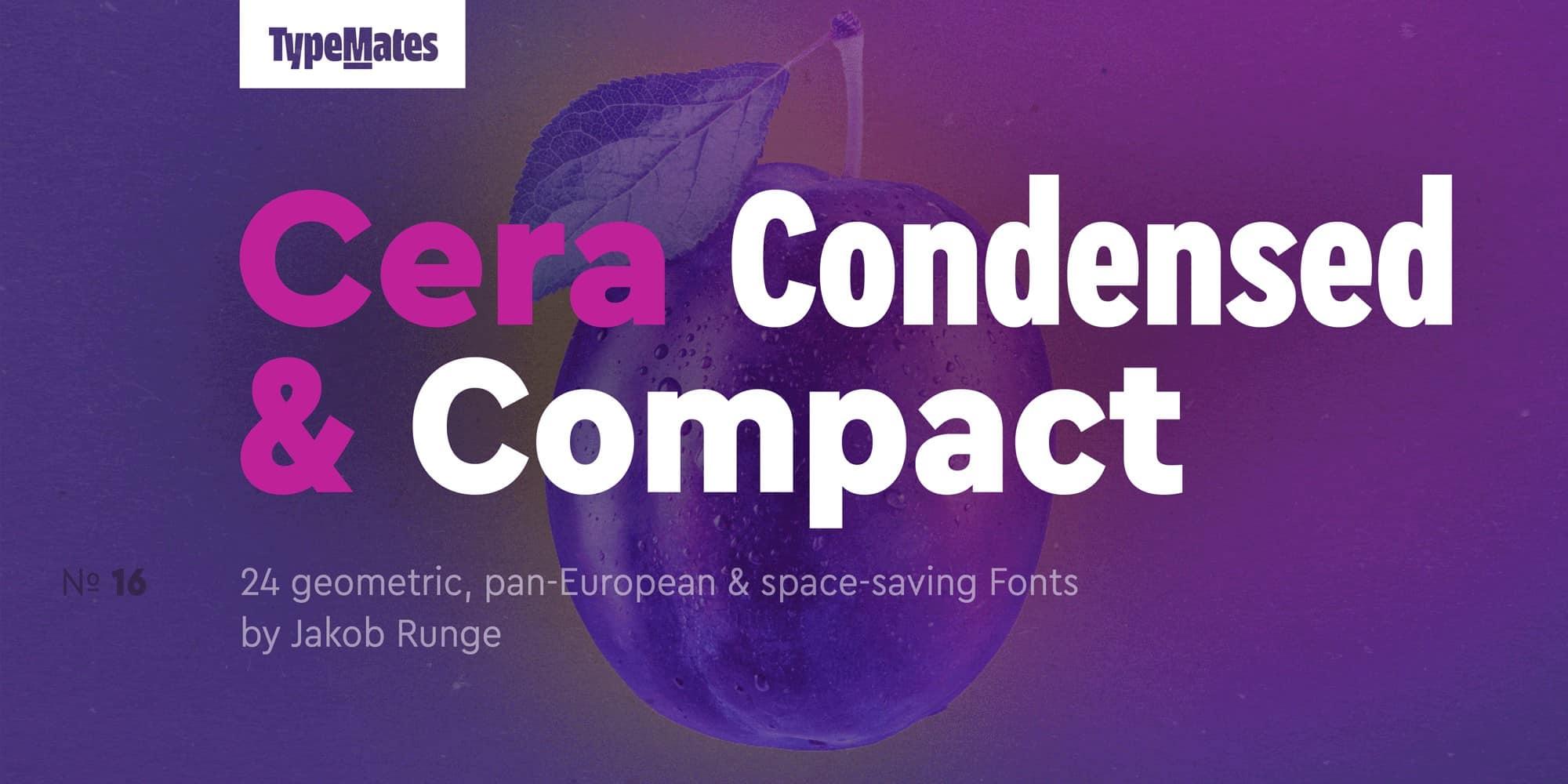 Cera Condensed шрифт скачать бесплатно