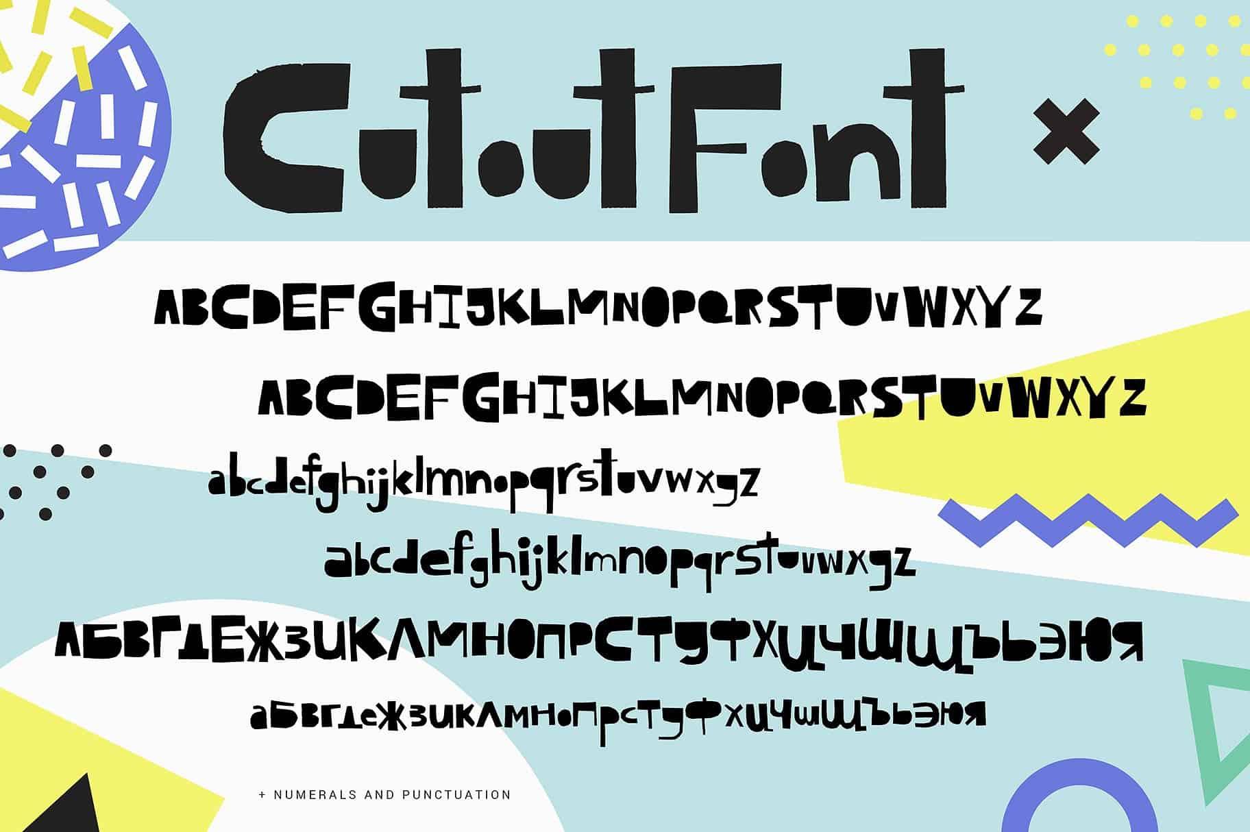 Cutout шрифт скачать бесплатно