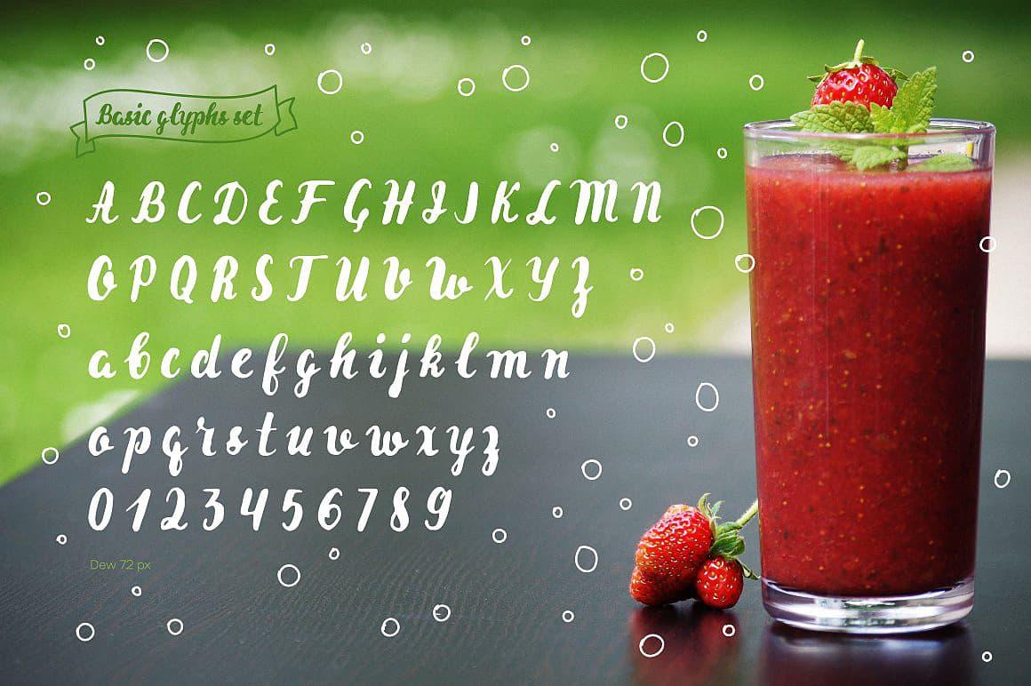 Dew & Dew Shadow шрифт скачать бесплатно