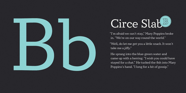 Circe Slab шрифт скачать бесплатно