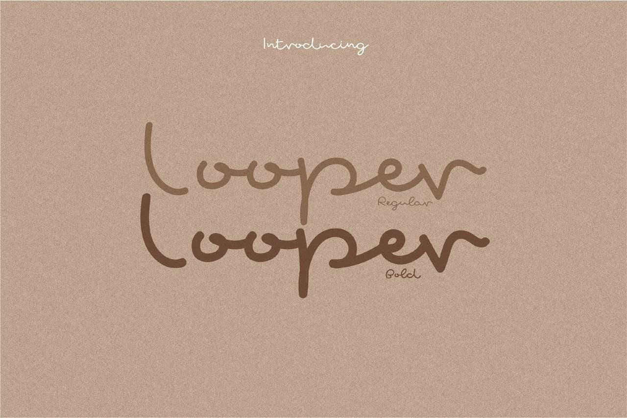 Looper шрифт скачать бесплатно