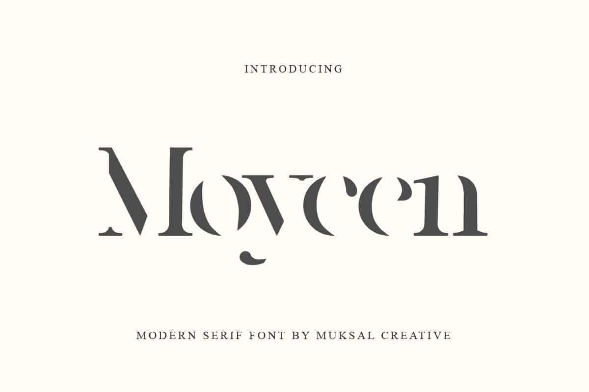 Moycen шрифт скачать бесплатно