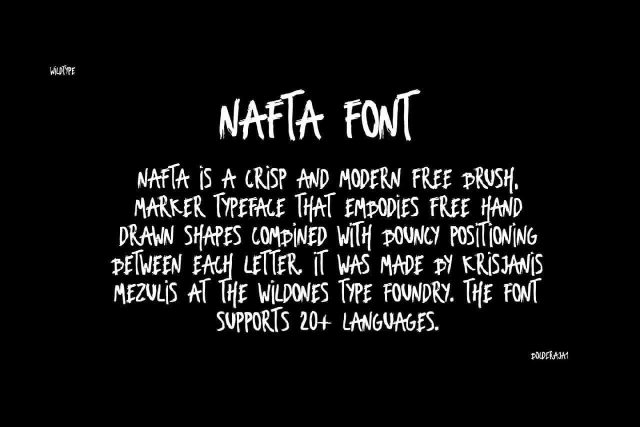 Nafta Light шрифт скачать бесплатно
