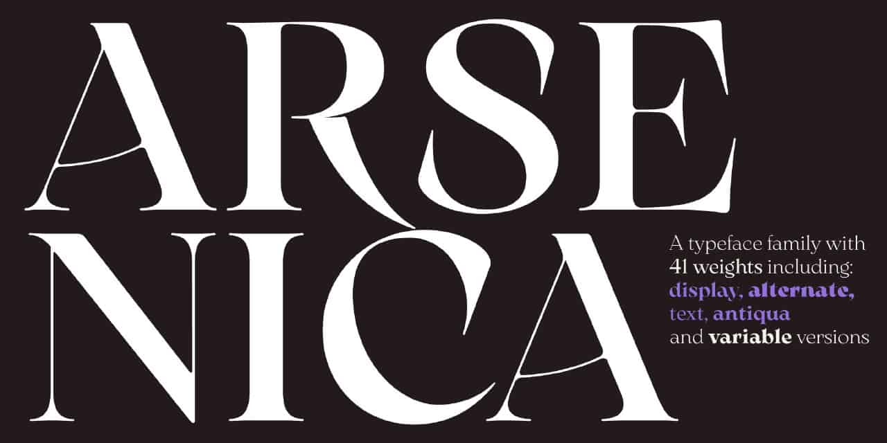 Arsenica шрифт скачать бесплатно