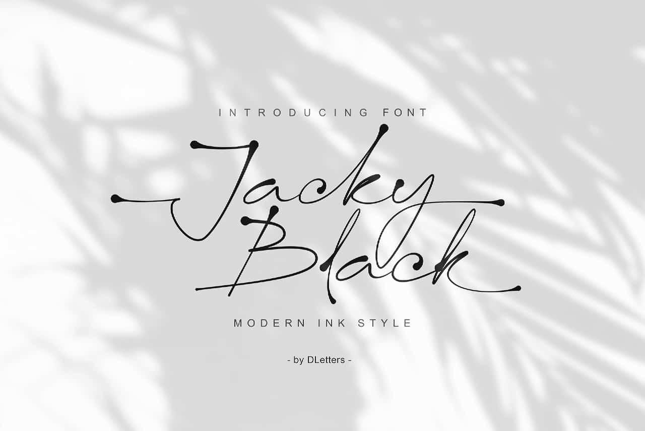 Jacky Black шрифт скачать бесплатно