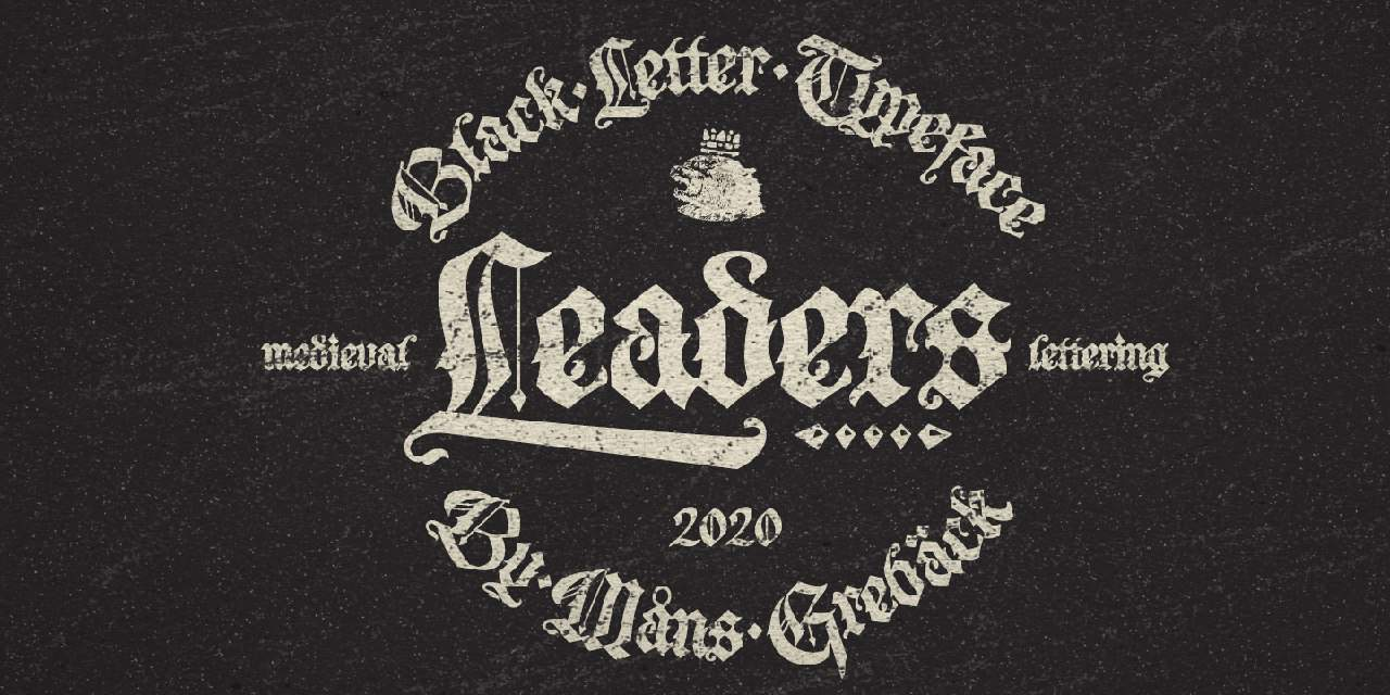 Leaders шрифт скачать бесплатно