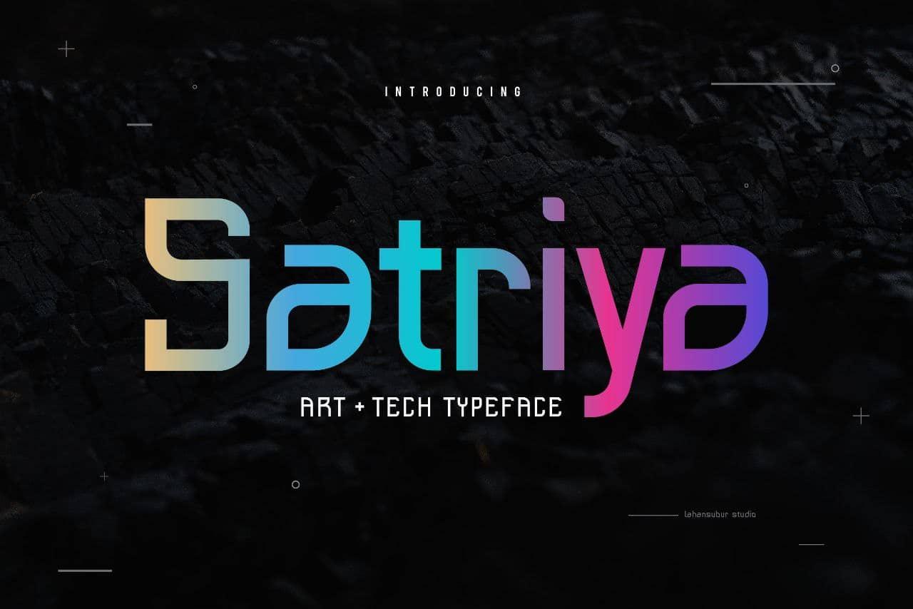 Satriya шрифт скачать бесплатно